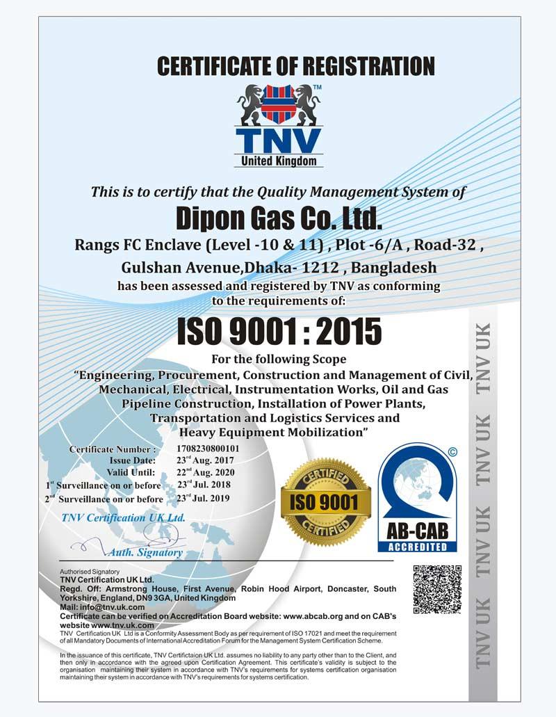 gas check iso 9001